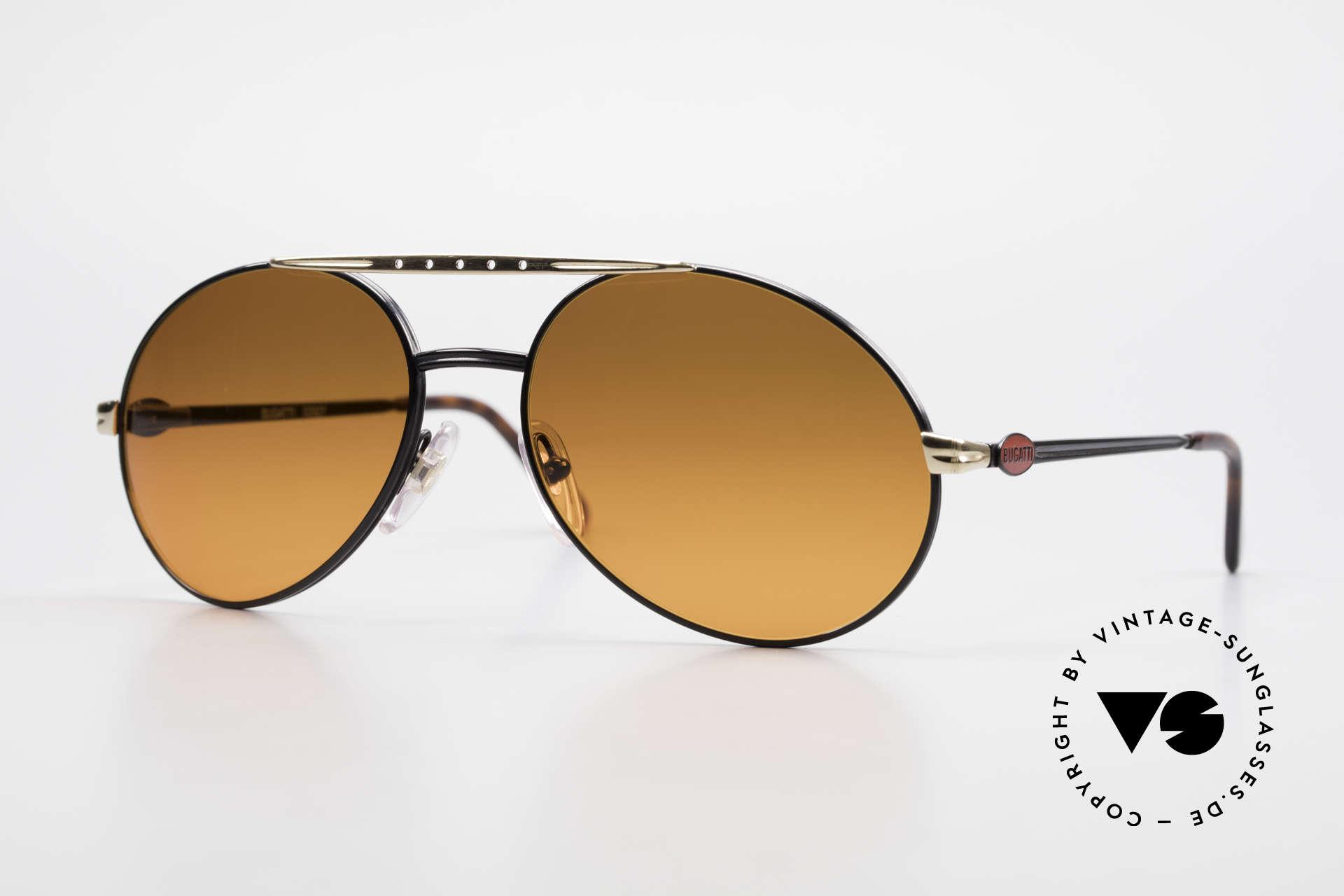 Bugatti 02927 Sunset Sun Lenses 80's Rarity, very elegant Bugatti vintage 80's designer sunglasses, Made for Men