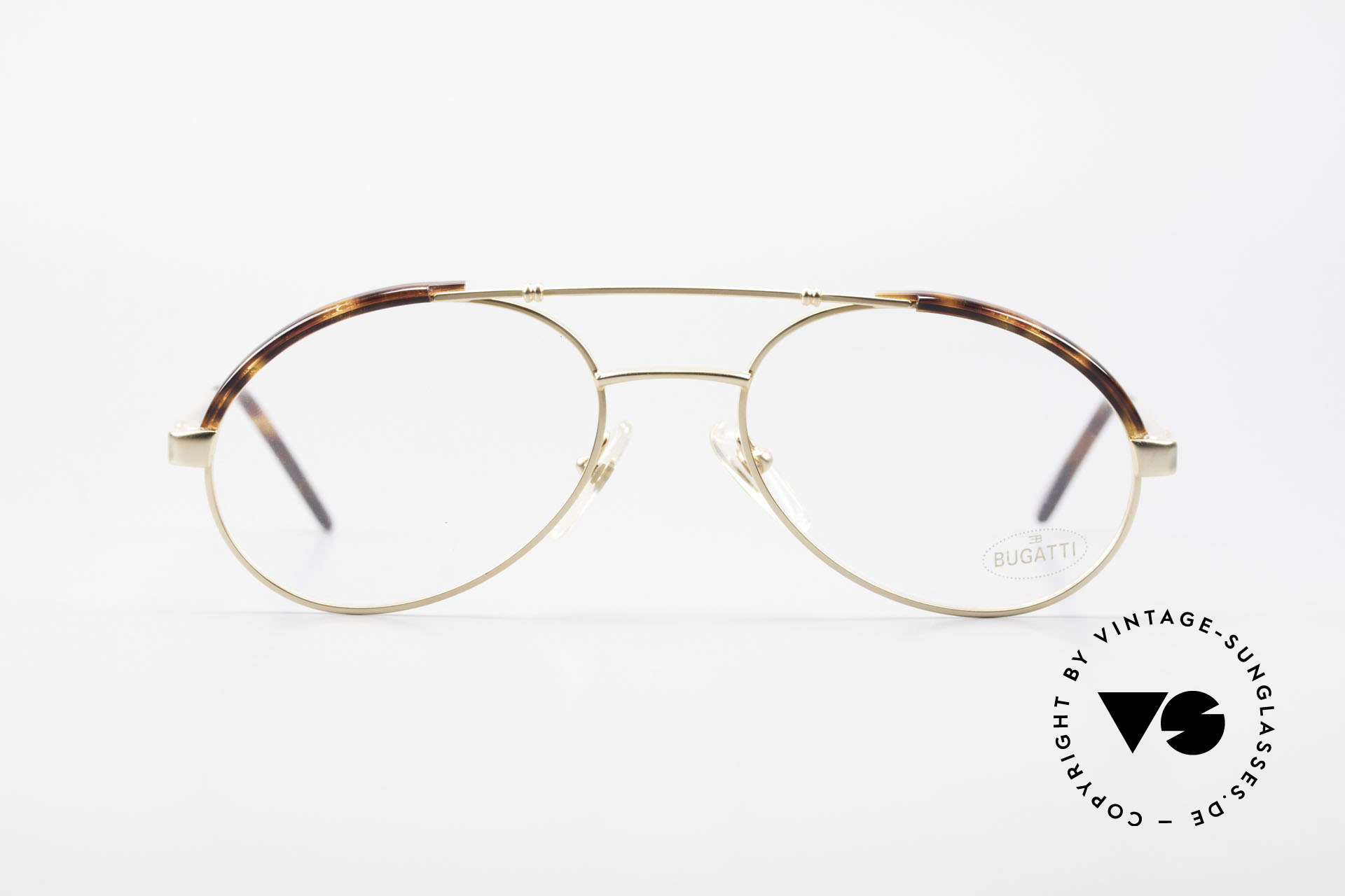 Bugatti 03081 90's Men's Glasses True Vintage, made around 1990 in France, top craftsmanship, Made for Men