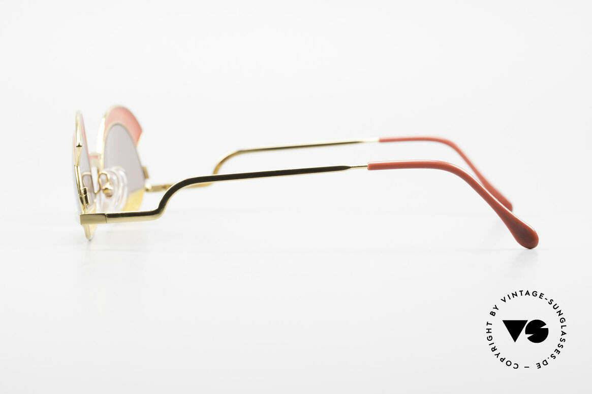 Casanova Arché 5 Limited 80's Art Sunglasses, rare, extravagant, valuable & in top quality (24Kt GP), Made for Women
