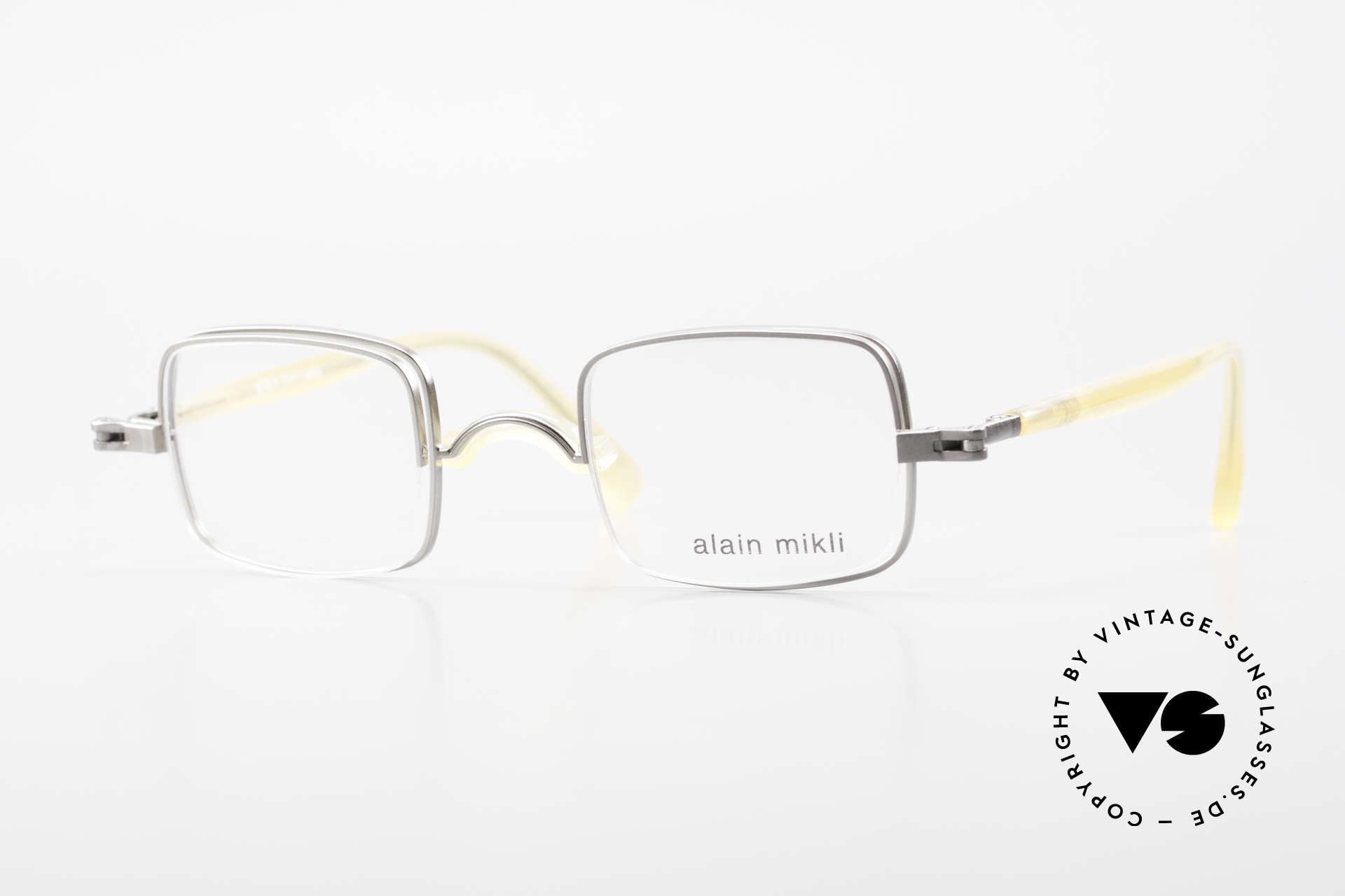 Alain Mikli 0115 / 01 Hinged Lenses 2 in 1 Glasses, ingenious vintage Alain Mikli designer eyeglasses, Made for Men and Women