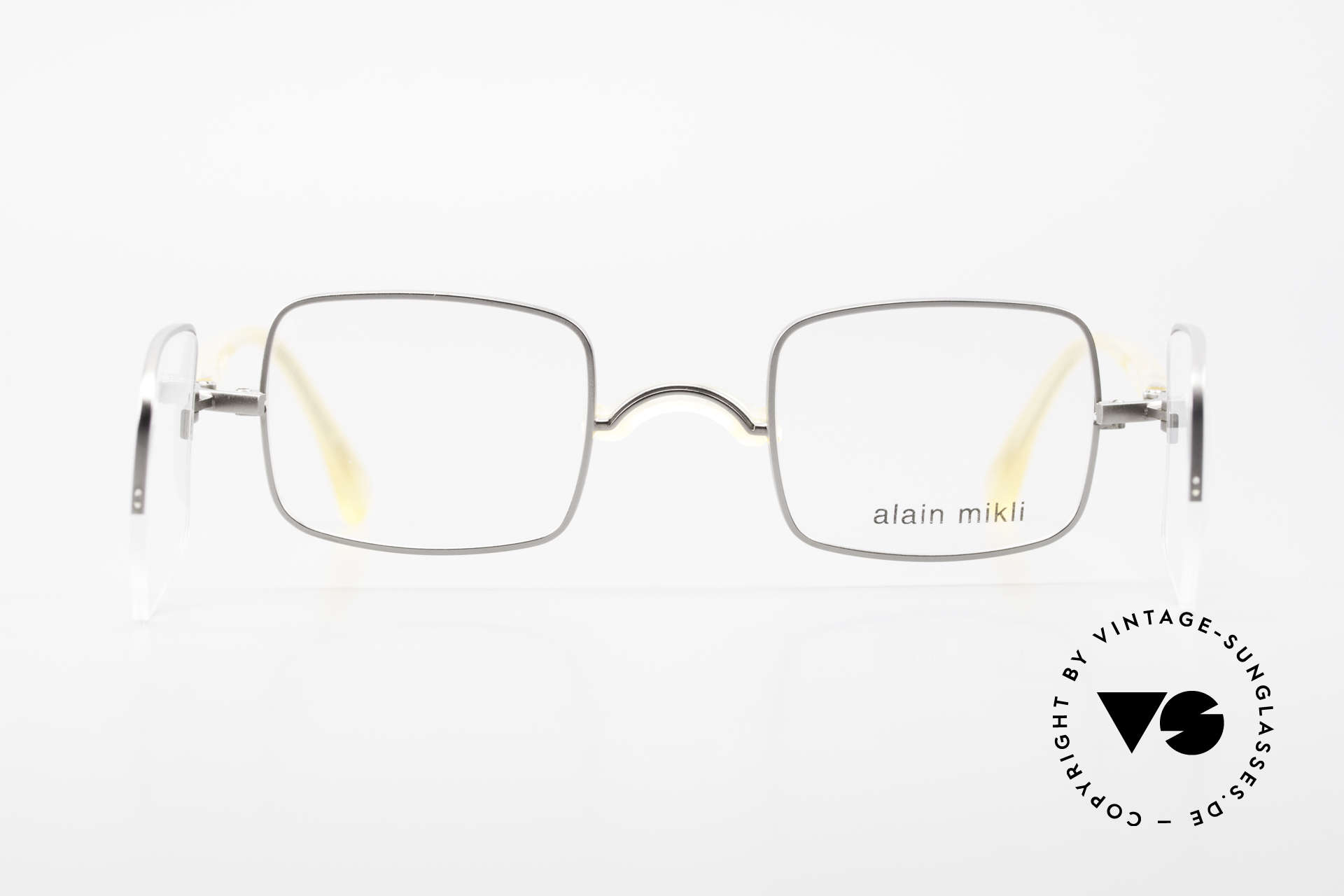 Alain Mikli 0115 / 01 Hinged Lenses 2 in 1 Glasses, or for prescription lenses + sun lenses (practical), Made for Men and Women