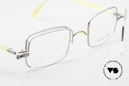 Alain Mikli 0115 / 01 Hinged Lenses 2 in 1 Glasses, NO RETRO frame, but an old ORIGINAL from 1995, Made for Men and Women