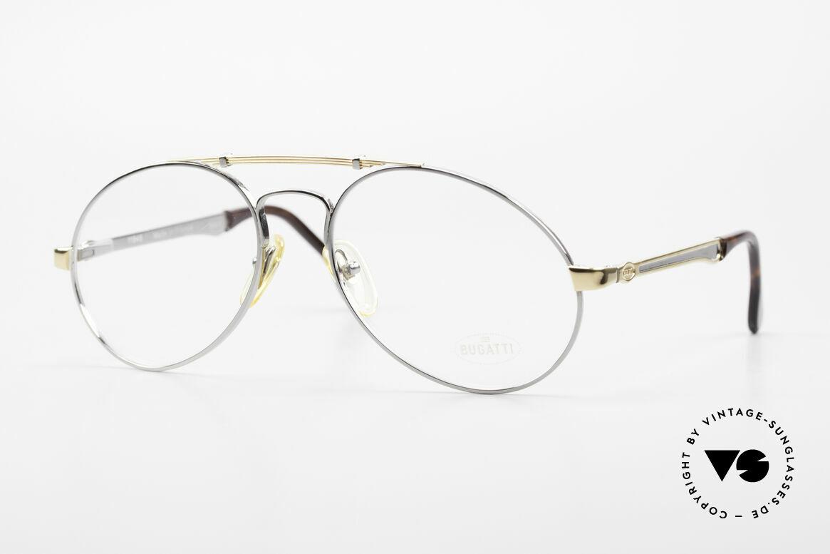 Bugatti 11946 Large 80's Luxury Eyeglasses, vintage 80's men's eyeglasses; large size 56/18, Made for Men