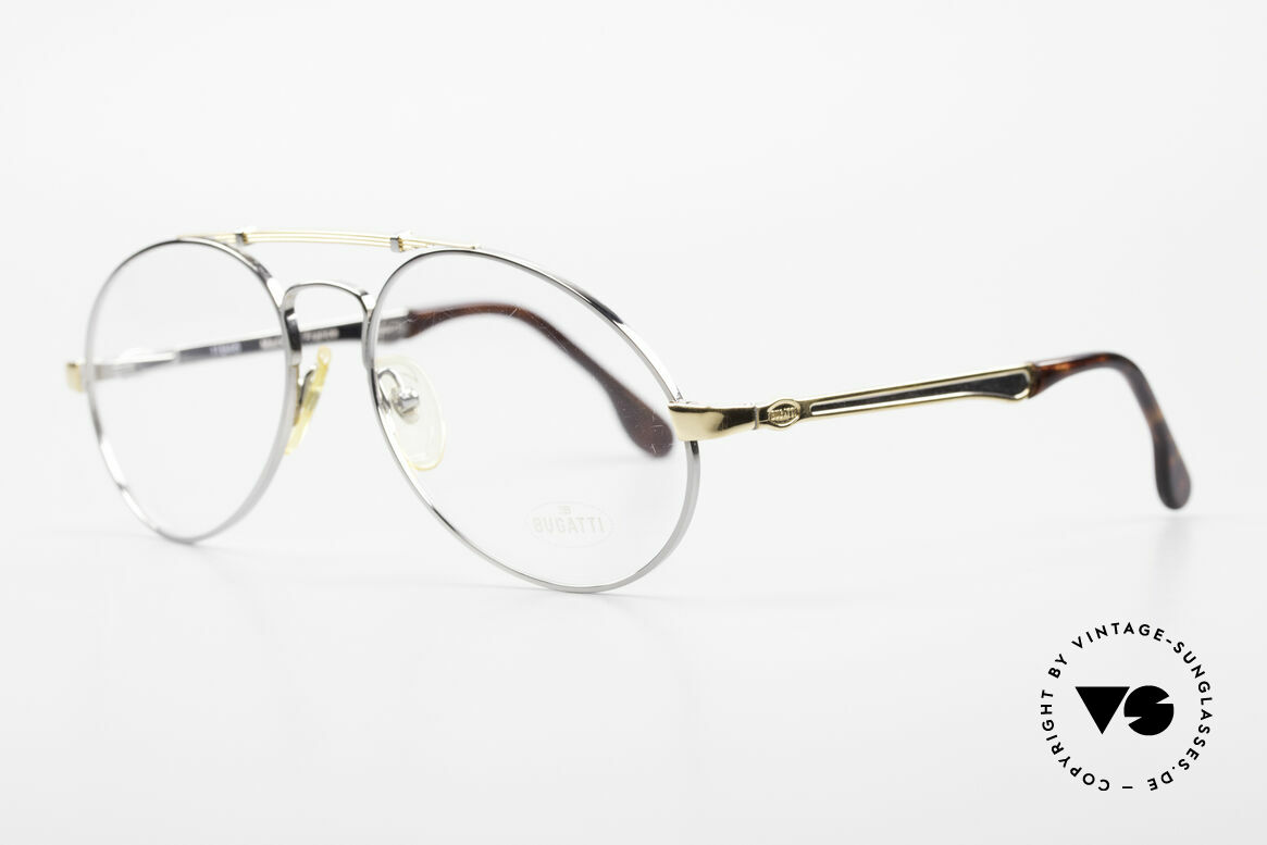 Bugatti 11946 Large 80's Luxury Eyeglasses, no tear drop, no aviator, but just Bugatti shape, Made for Men