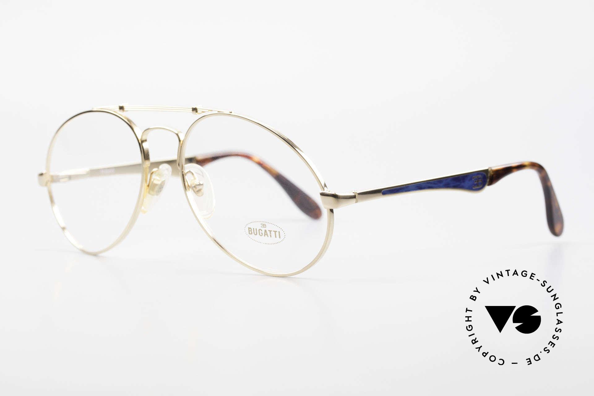 Bugatti 11945 Large Luxury 80's Eyeglasses, no tear drop, no aviator, but just Bugatti shape, Made for Men