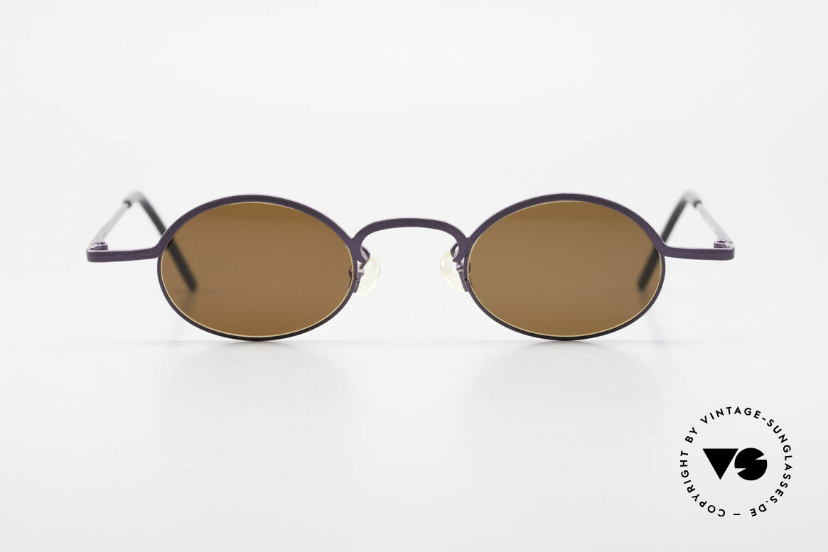 Theo Belgium San 90's Oval Designer Sunglasses, founded in 1989 as 'opposite pole' to the 'mainstream', Made for Women