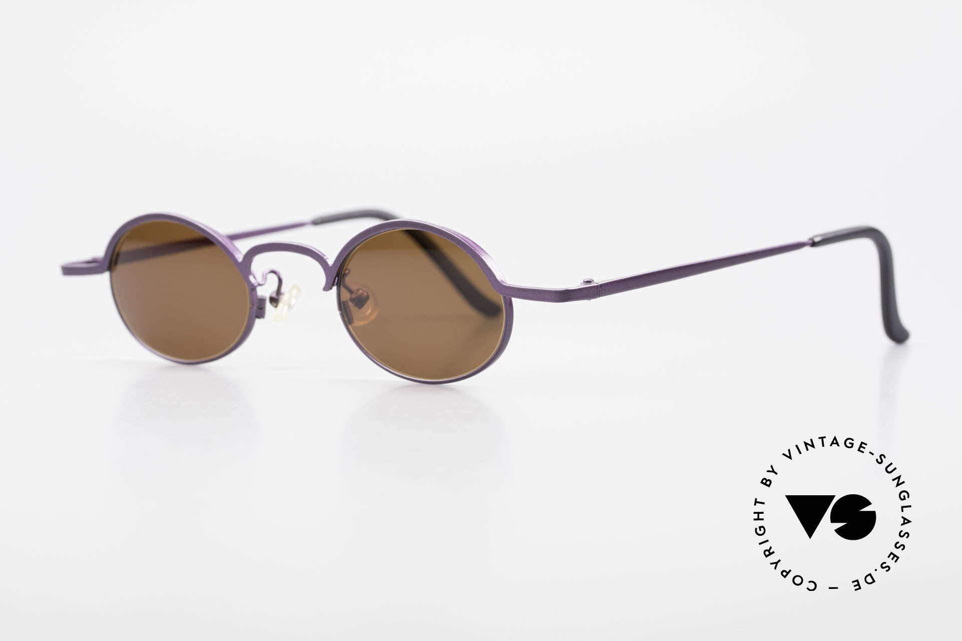 Theo Belgium San 90's Oval Designer Sunglasses, made for the avant-garde, individualists, trend-setters, Made for Women