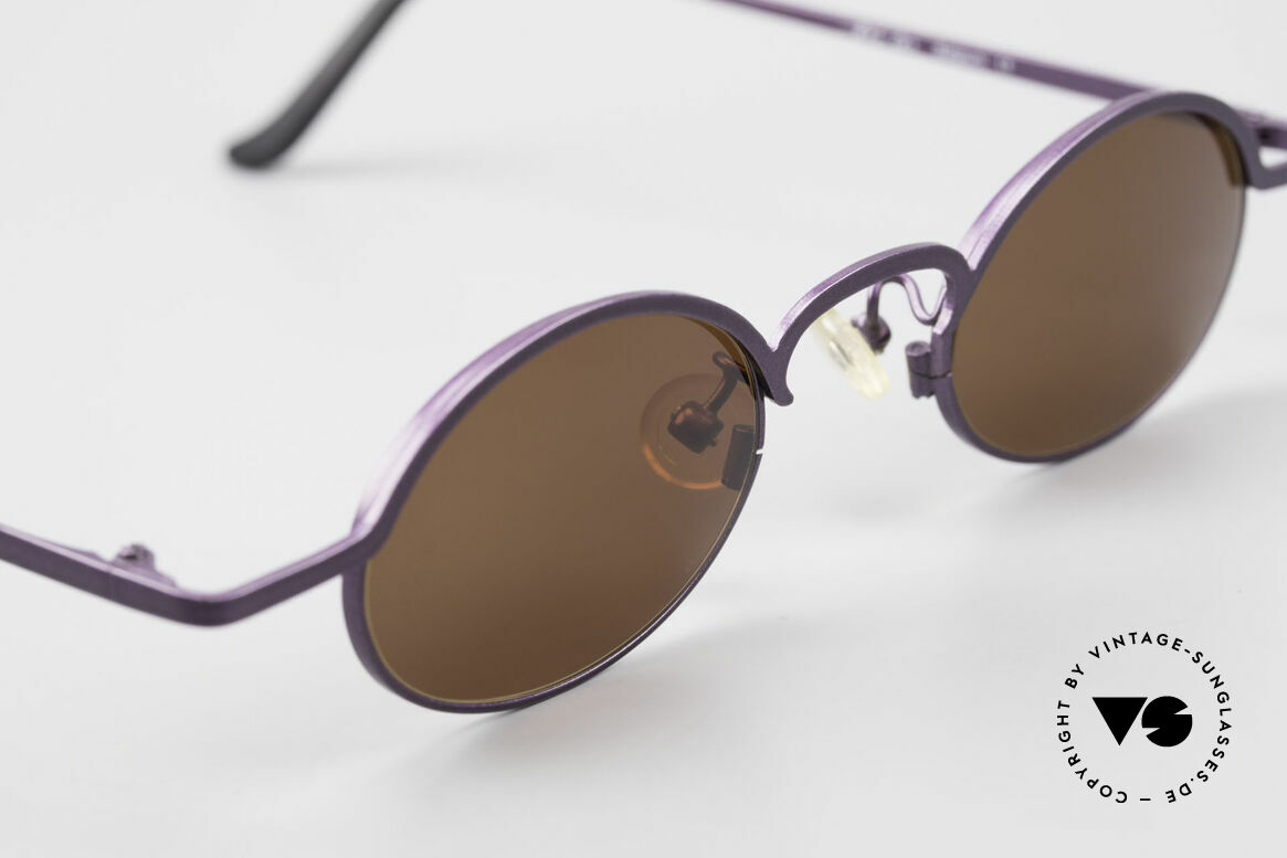 Theo Belgium San 90's Oval Designer Sunglasses, UNWORN, one of a kind, THEO shades for all who dare!, Made for Women