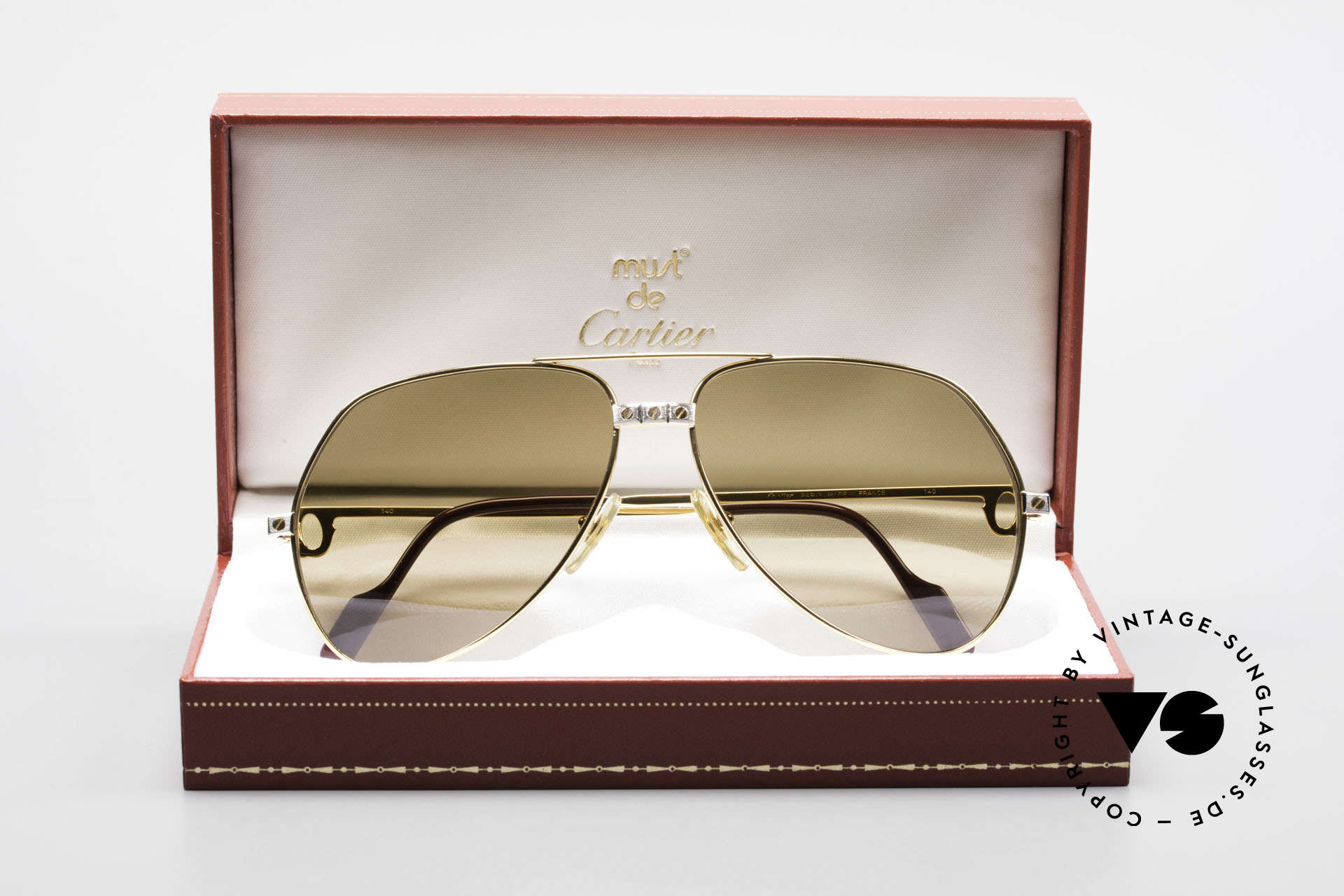 Cartier Vendome Santos - L Mystic Cartier Mineral Lenses, unworn, new old stock with orig. packing, collector's item, Made for Men