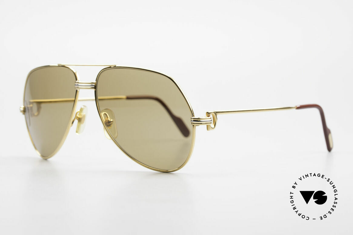 Cartier Vendome LC - M Mystic Cartier Mineral Lenses, 22ct gold-plated (with LC decor) in Medium size 59-14, Made for Men