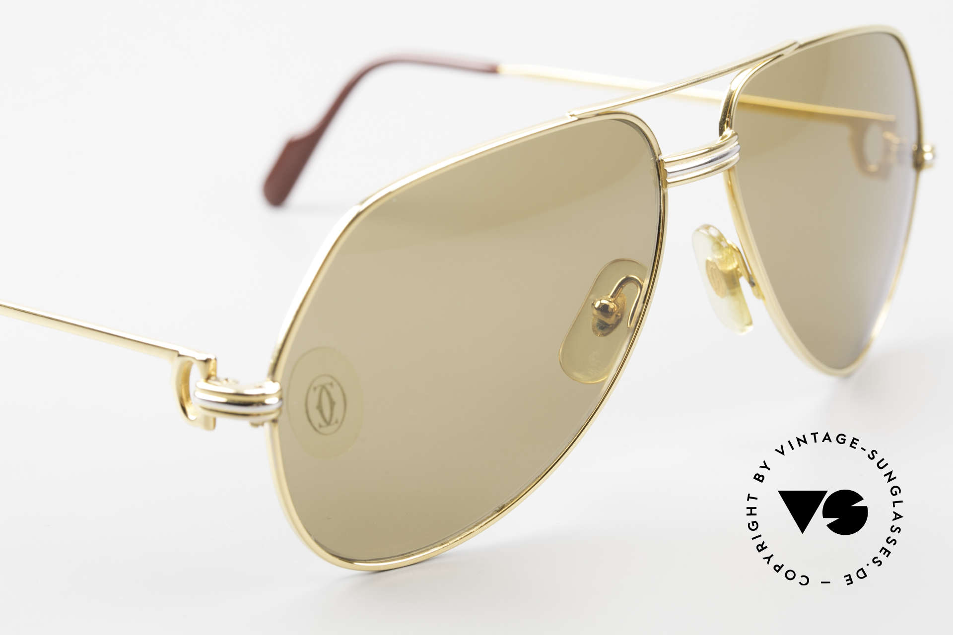 Cartier Vendome LC - M Mystic Cartier Mineral Lenses, ! BREATH on the sun lenses to make the logo VISIBLE!, Made for Men