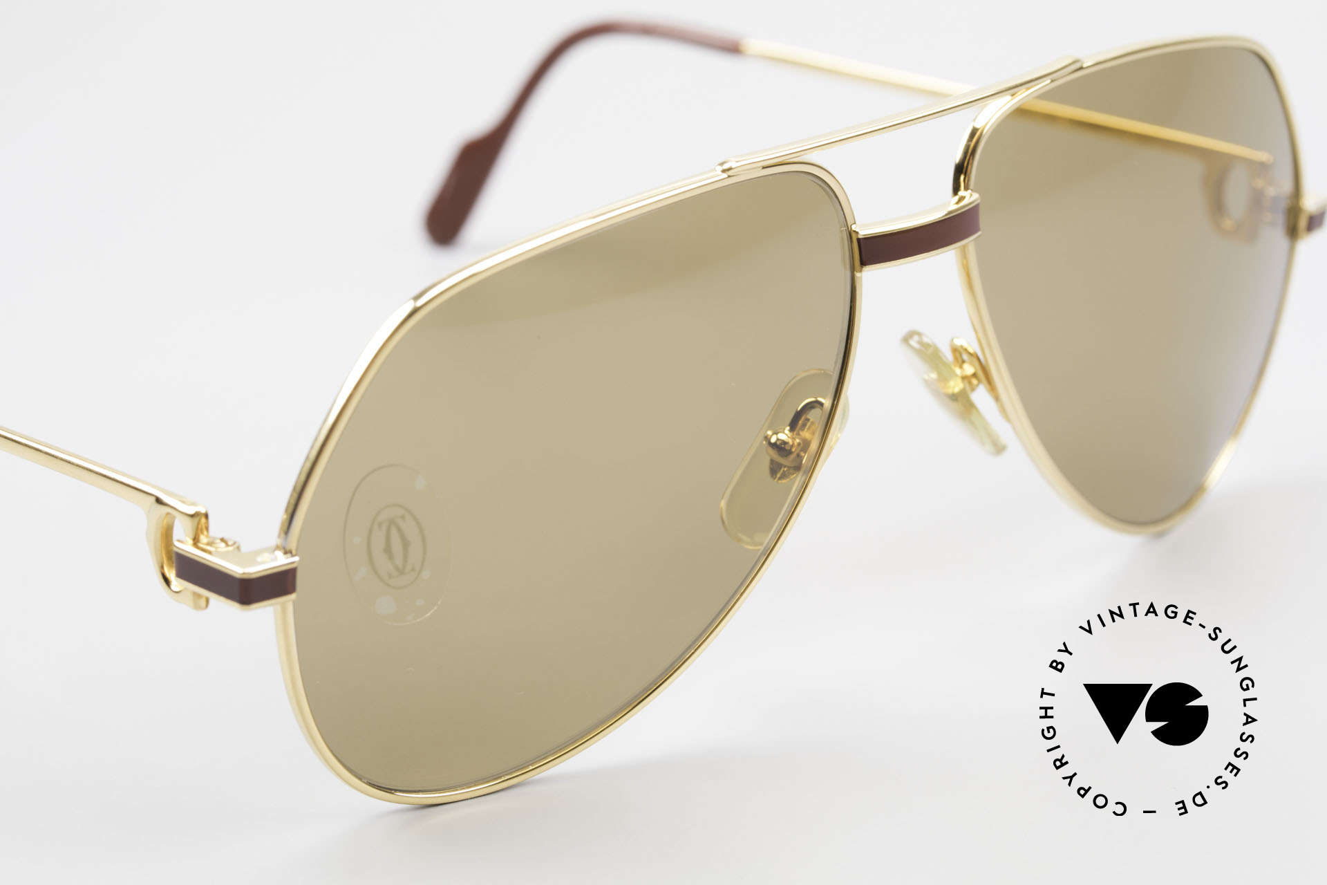 Cartier Vendome Laque - M Mystic Cartier Mineral Lenses, ! BREATH on the sun lenses to make the logo VISIBLE!, Made for Men