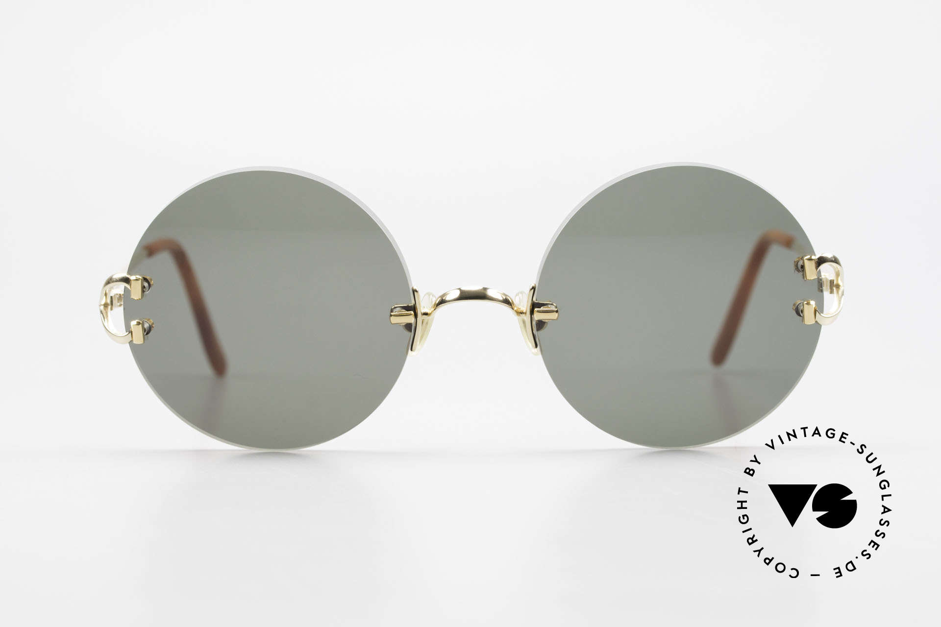 Cartier Madison Round Luxury Sunglasses 90's, precious round designer shades; 22ct GOLD-PLATED, Made for Men and Women