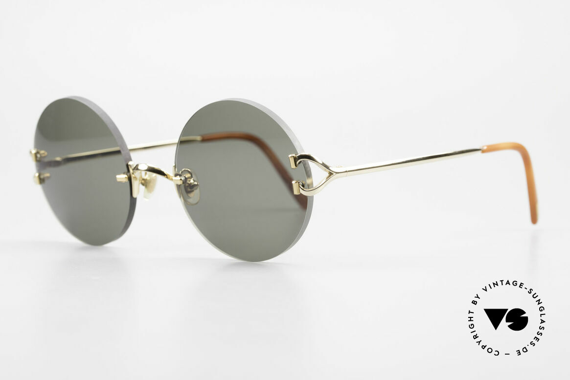 Cartier Madison Round Luxury Sunglasses 90's, 2nd hand model, but in mint condition + orig. BOX, Made for Men and Women