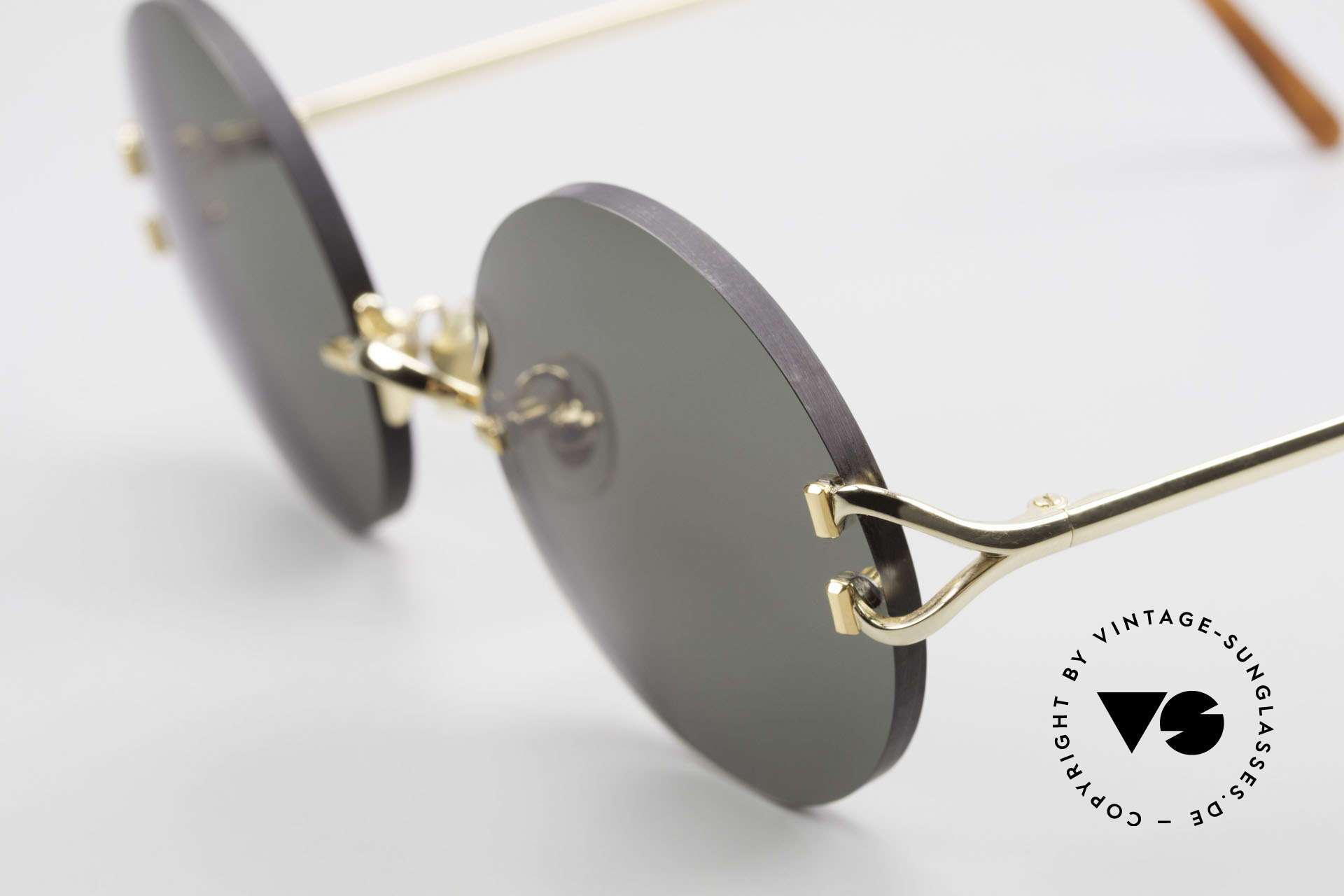 Cartier Madison Round Luxury Sunglasses 90's, with new CR39 UV400 lenses in gray-green G15 color, Made for Men and Women