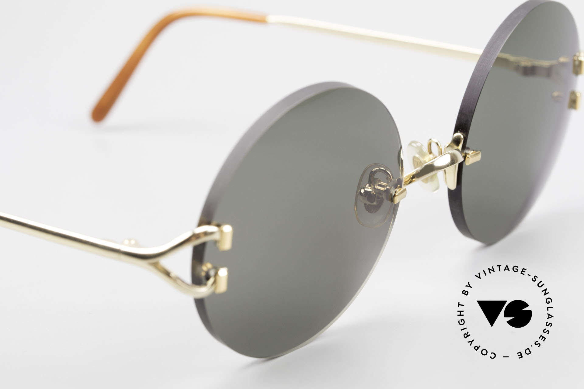 Cartier Madison Round Luxury Sunglasses 90's, 135mm temples & 130mm width = rather medium size, Made for Men and Women