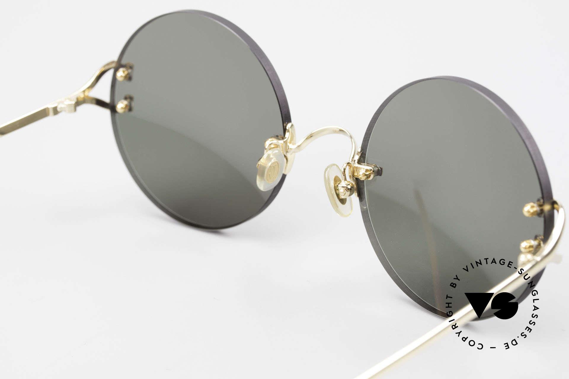 Cartier Madison Round Luxury Sunglasses 90's, NO retro sunglasses, but a rare old Cartier ORIGINAL, Made for Men and Women