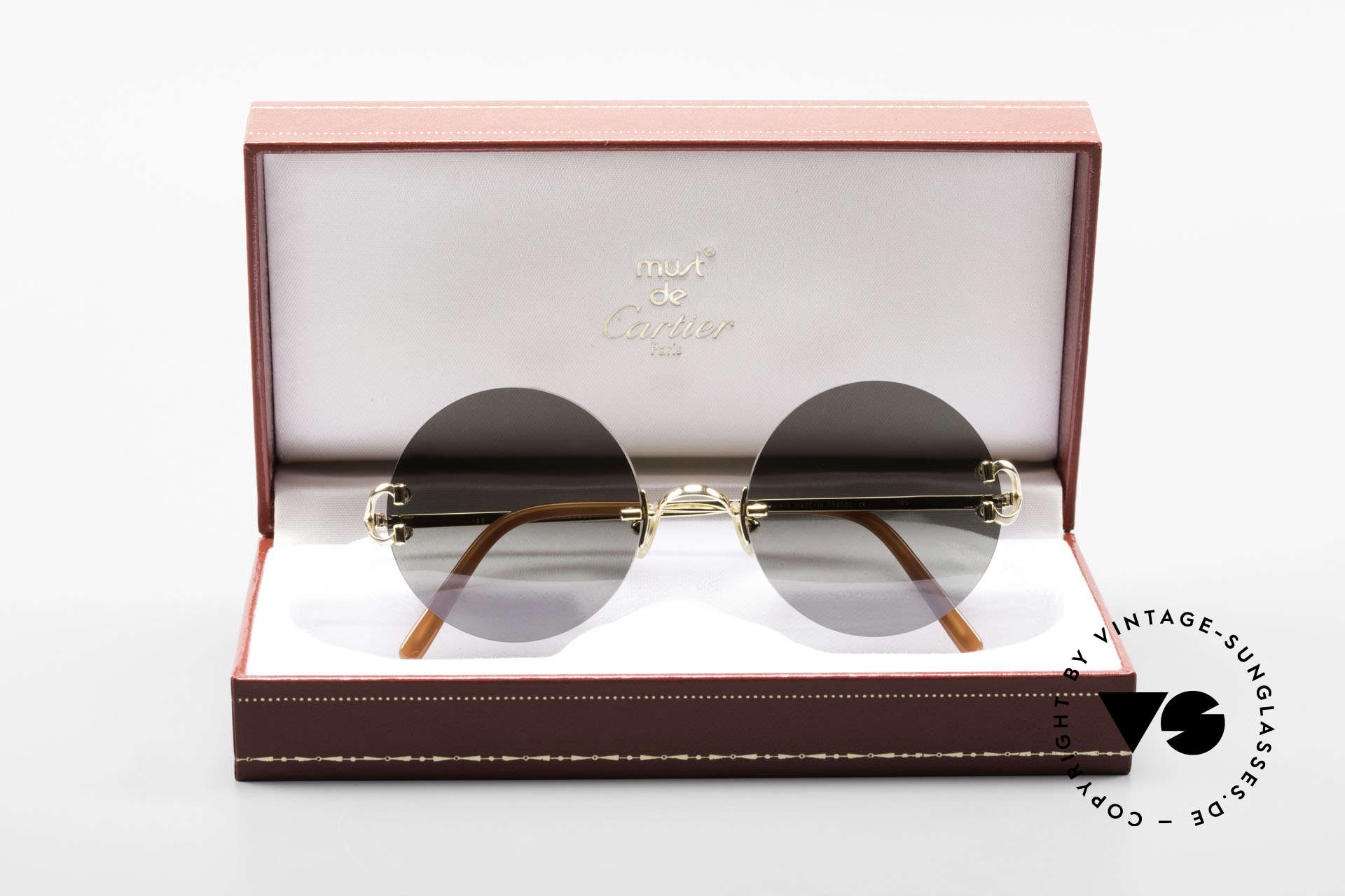 Cartier Madison Round Luxury Sunglasses 90's, Size: medium, Made for Men and Women