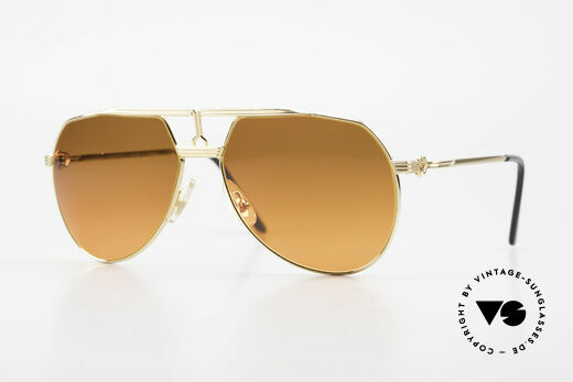 Maserati 6130 Luxury Aviator Sunglasses 80's Details