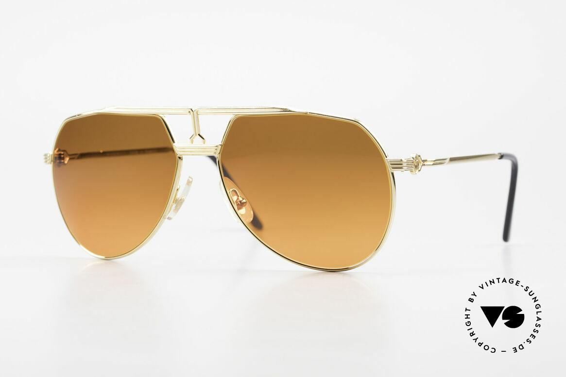 Maserati 6130 Luxury Aviator Sunglasses 80's, luxury vintage sunglasses by the noble brand Maserati, Made for Men