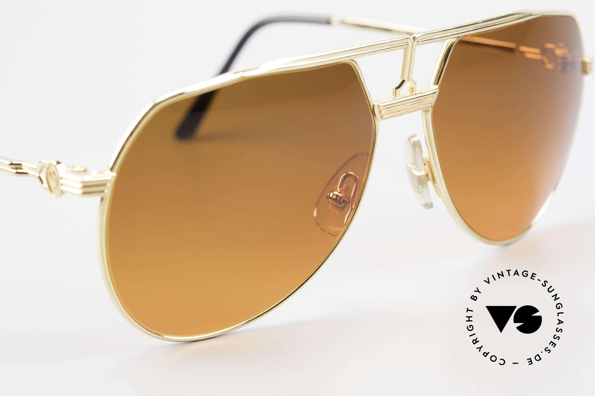 Maserati 6130 Luxury Aviator Sunglasses 80's, unworn; like all our rare vintage 80s Maserati sunglasses, Made for Men