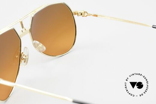 Maserati 6130 Luxury Aviator Sunglasses 80's, NO RETRO; old original incl. luxury packing by Montblanc, Made for Men