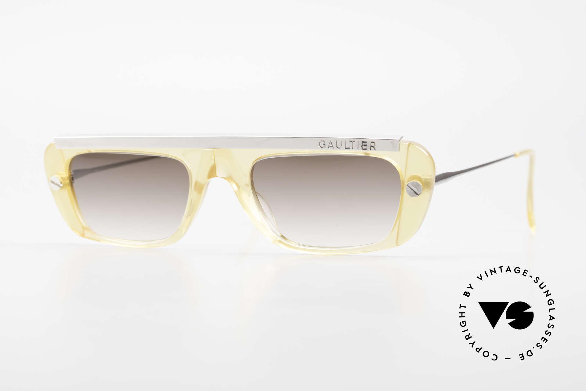 Jean Paul Gaultier 55-0771 Striking Vintage JPG Shades, striking Jean Paul GAULTIER vintage sunglasses, Made for Men and Women
