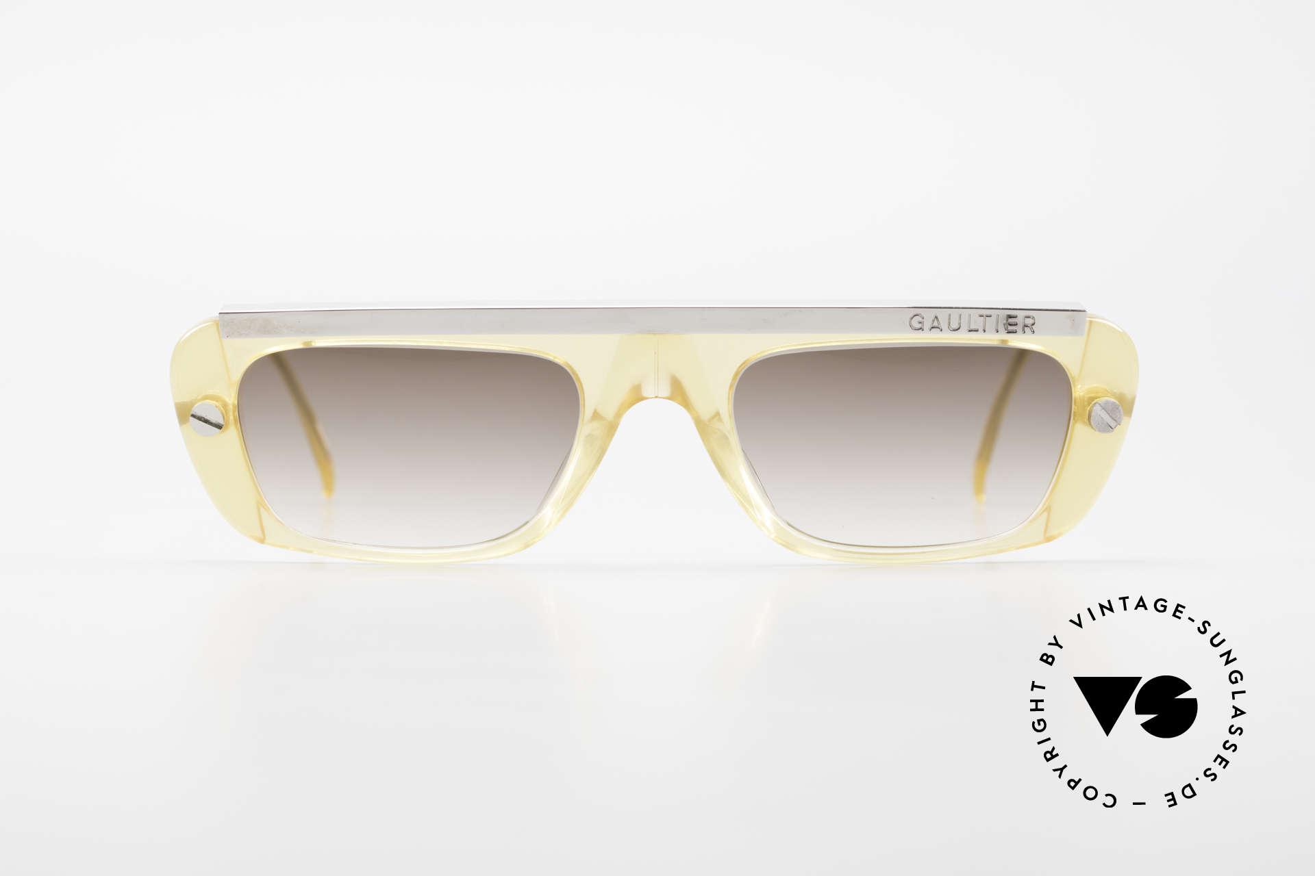 Jean Paul Gaultier 55-0771 Striking Vintage JPG Shades, sturdy frame with great combination of materials, Made for Men and Women