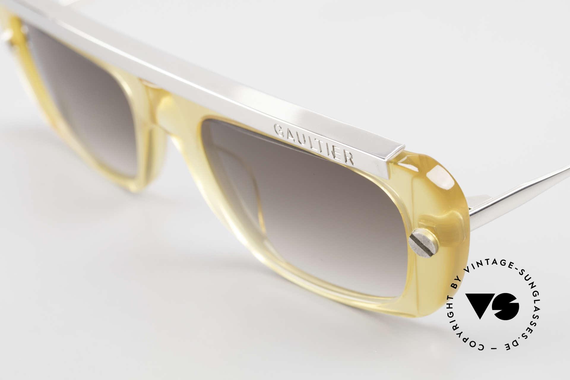 Jean Paul Gaultier 55-0771 Striking Vintage JPG Shades, unworn (like all our old 90's JP Gaultier eyewear), Made for Men and Women