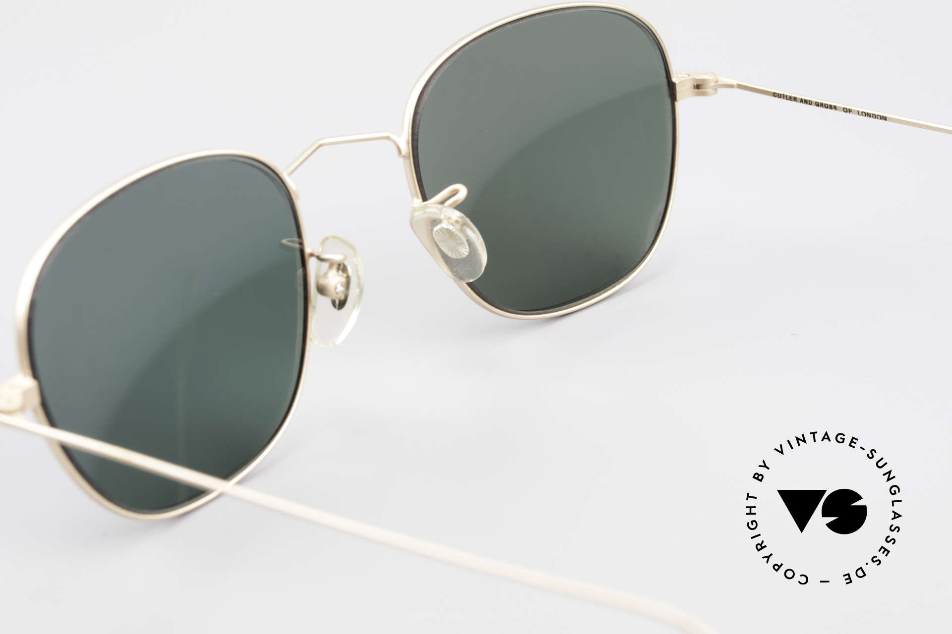 Cutler And Gross 0307 Classic 90s Designer Sunglasses, NO RETRO fashion, but a unique 20 years old Original!, Made for Men and Women