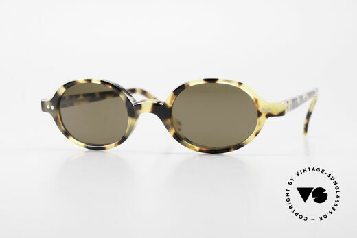 Cutler And Gross 0158 Small Oval Designer Sunglasses Details