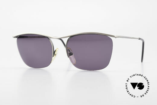 Cutler And Gross 0267 Semi Rimless Sunglasses 90's Details