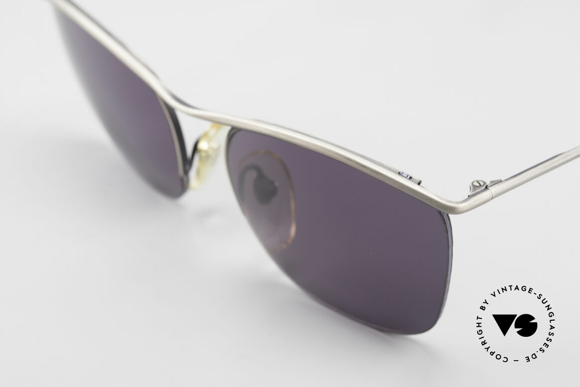 Cutler And Gross 0267 Semi Rimless Sunglasses 90's, semi rimless: the sun lenses are fixed with Nylor thread, Made for Men and Women