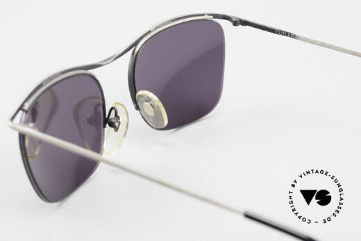 Cutler And Gross 0267 Semi Rimless Sunglasses 90's, NO RETRO fashion, but a unique 20 years old Original!, Made for Men and Women
