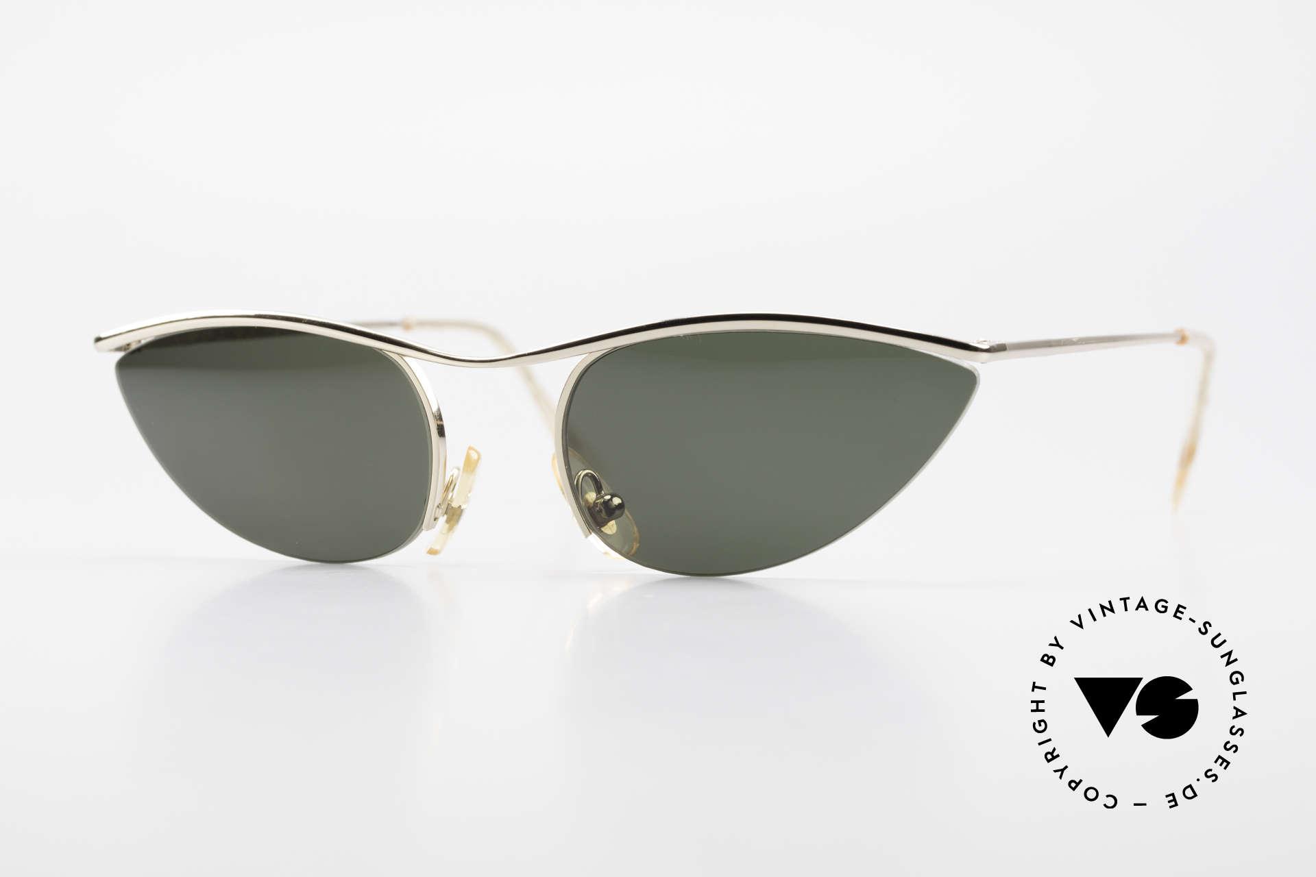 Cutler And Gross 0359 Cat Eye Designer Sunglasses, CUTLER and GROSS designer shades from the late 90's, Made for Women