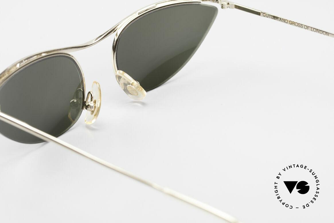 Cutler And Gross 0359 Cat Eye Designer Sunglasses, never worn; like all our vintage Cutler & Gross eyewear, Made for Women