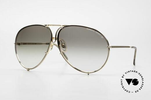 Porsche 5621 XL Golden Aviator Sunglasses Details