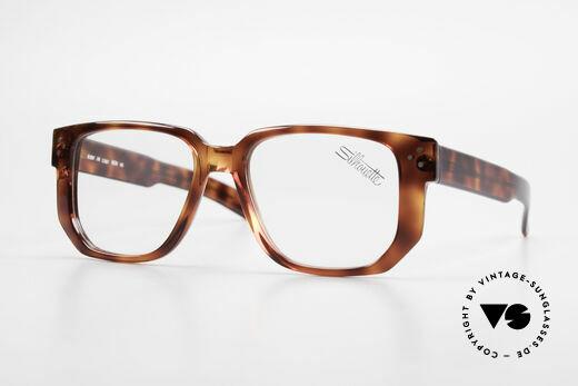 Silhouette M2097 1980's Old School Eyeglasses Details