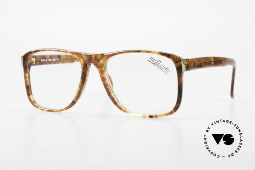 Silhouette M2086 Old 80's Frame Amber Optic Details