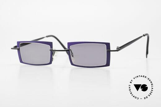 Theo Belgium Arbour Knot Purple Black Designer Shades Details