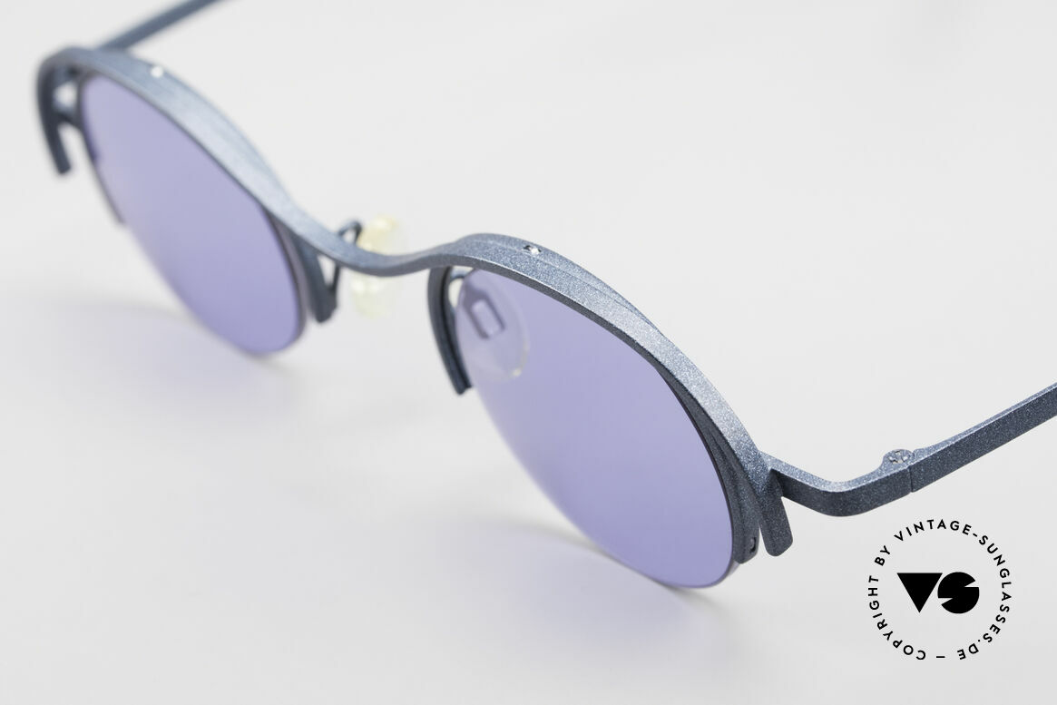 "Theo Belgium Summer Round Ladies Designer Shades, very interesting frame finish in ""DARK TURQUOISE"", Made for Women"