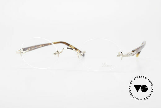 Lunor Classic Oval GP Oval Rimless Frame Gold Plated Details