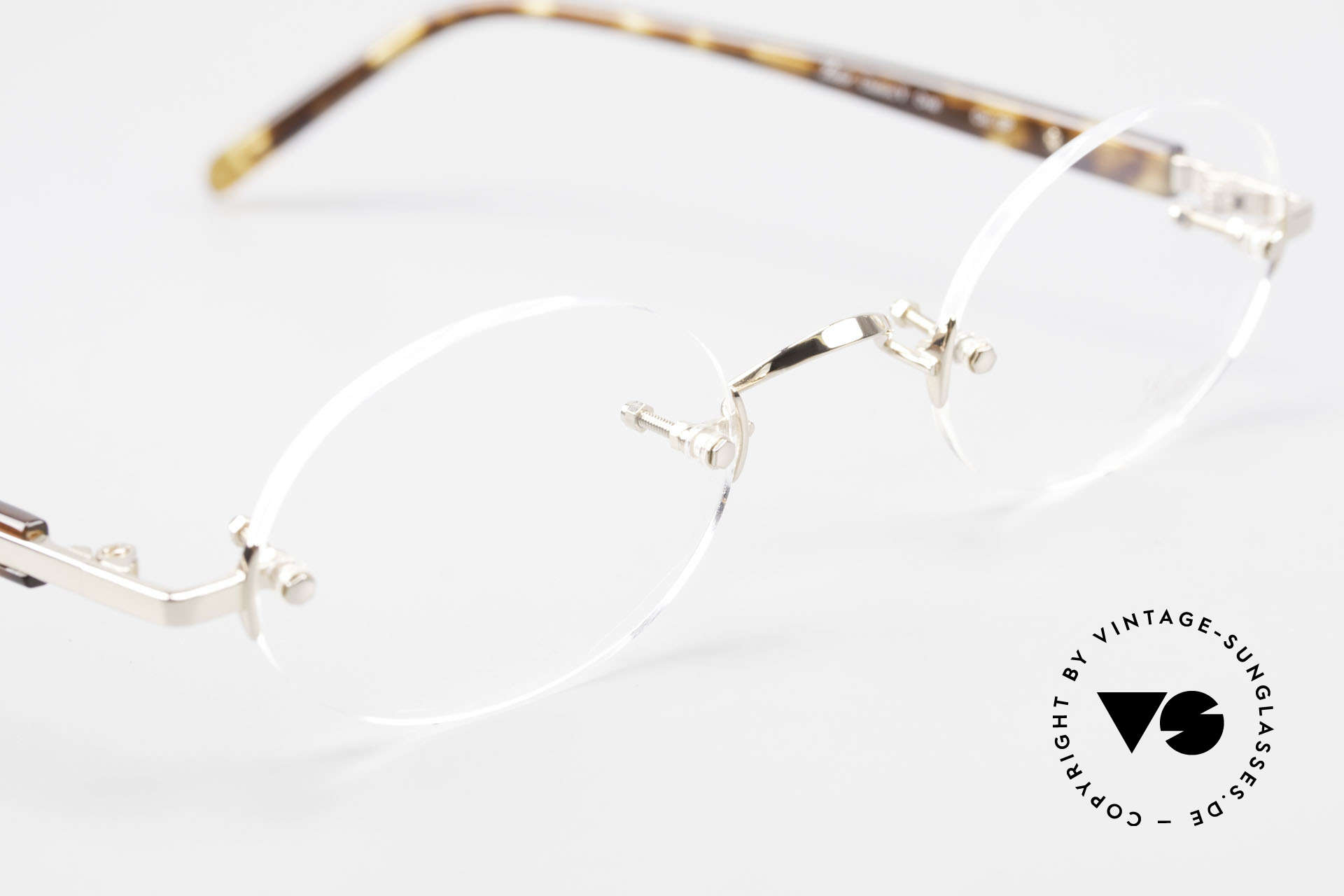 Lunor Classic Oval GP Oval Rimless Frame Gold Plated, thus, we decided to take it into our vintage collection, Made for Men and Women