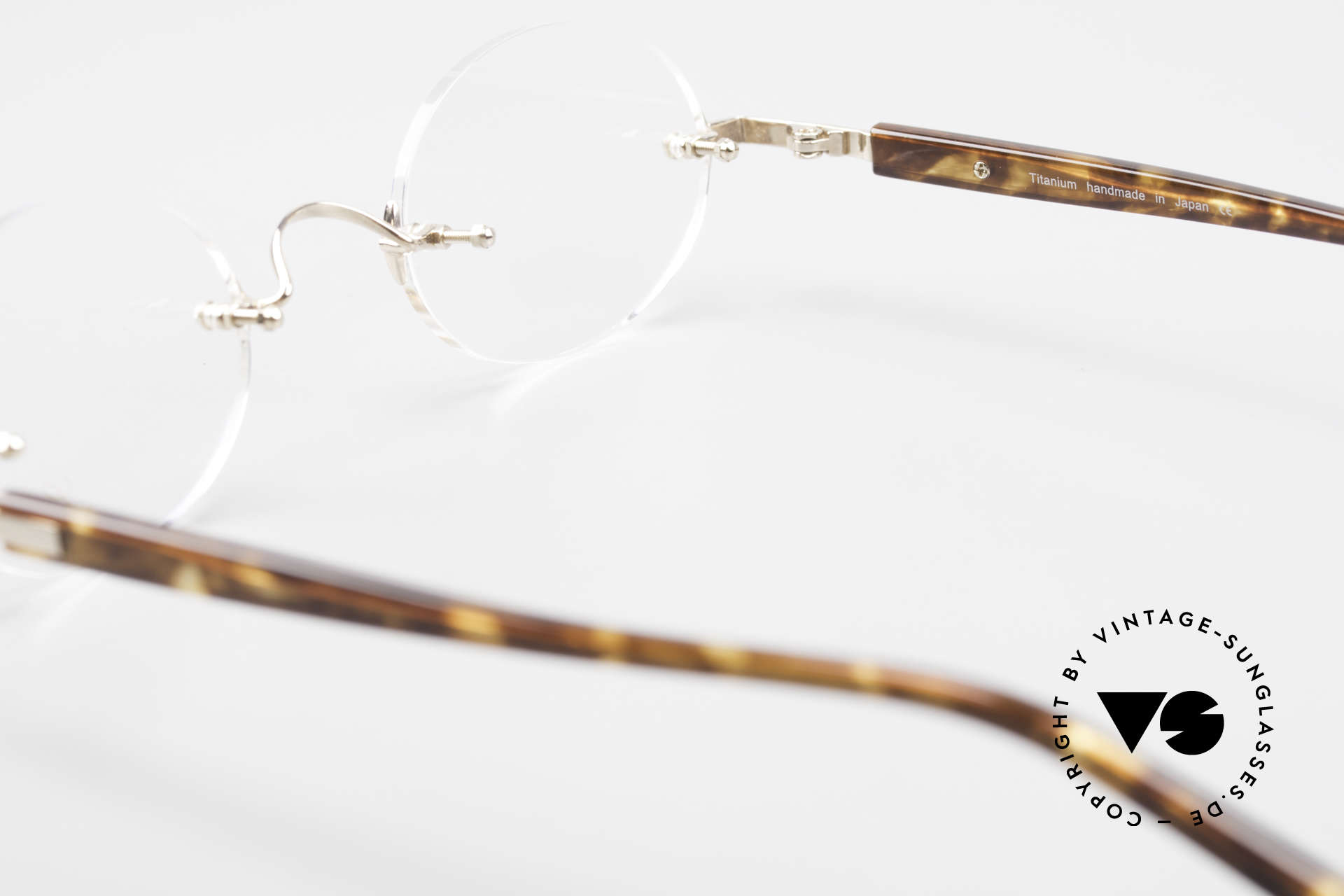 Lunor Classic Oval GP Oval Rimless Frame Gold Plated, Size: small, Made for Men and Women
