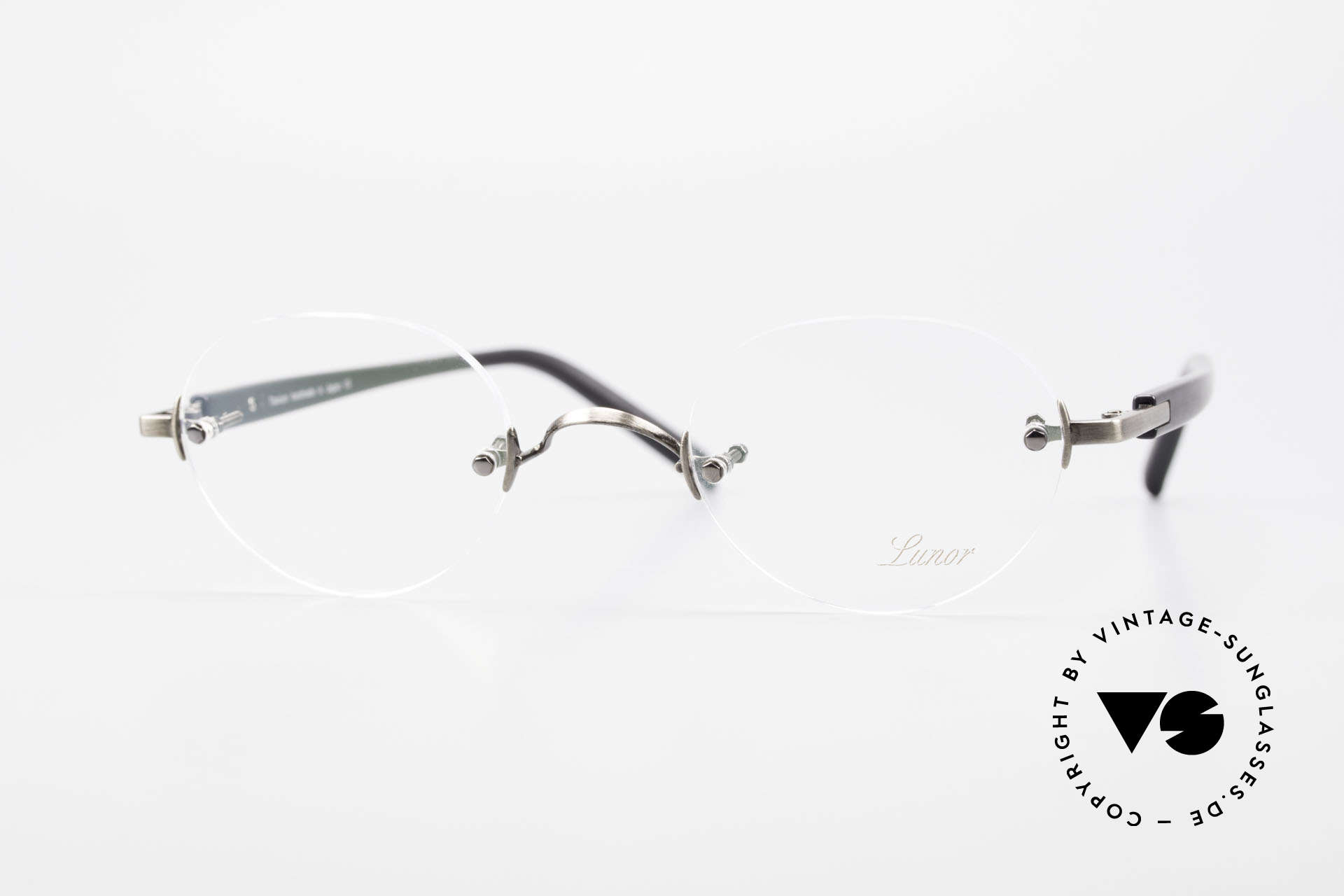 Lunor Classic Panto AS Panto Rimless Frame Unisex, LUNOR: honest craftsmanship with attention to details, Made for Men and Women
