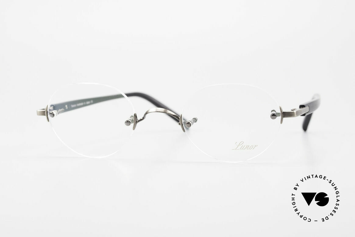 Lunor Classic V Panto AS Panto Rimless Frame Unisex, LUNOR: honest craftsmanship with attention to details, Made for Men and Women