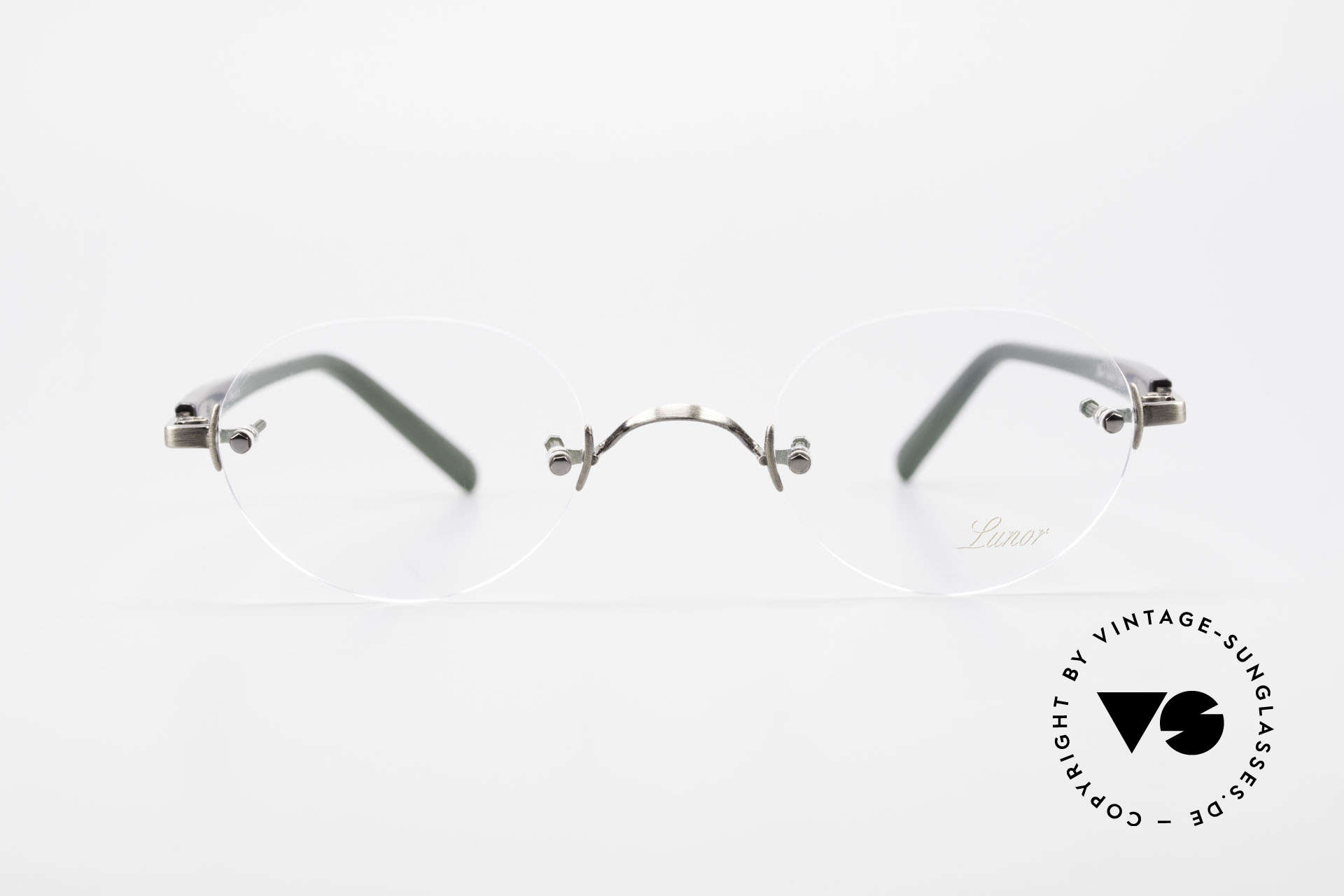 Lunor Classic V Panto AS Panto Rimless Frame Unisex, without ostentatious logos (but in a timeless elegance), Made for Men and Women