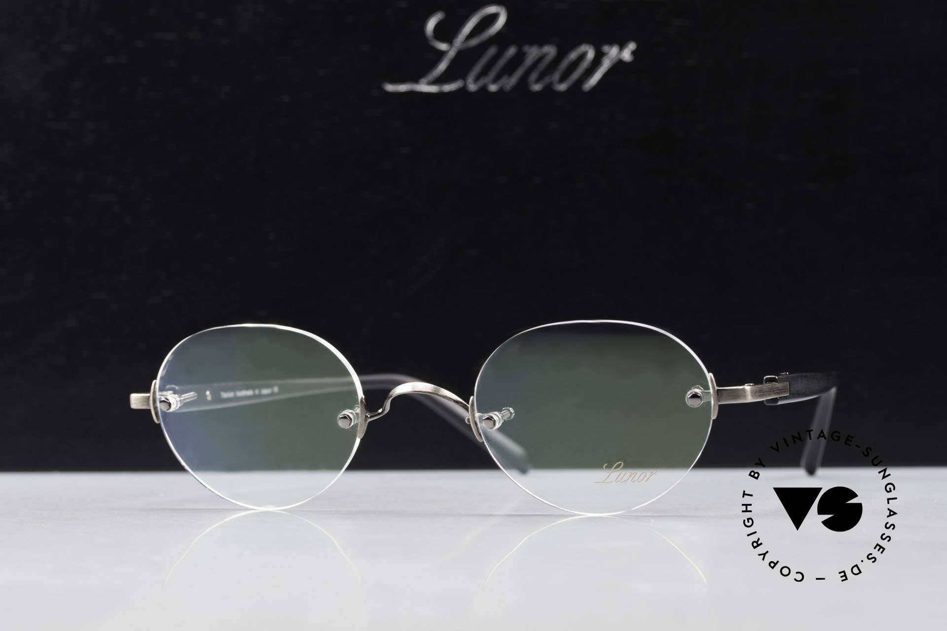 Lunor Classic V Panto AS Panto Rimless Frame Unisex, Size: small, Made for Men and Women
