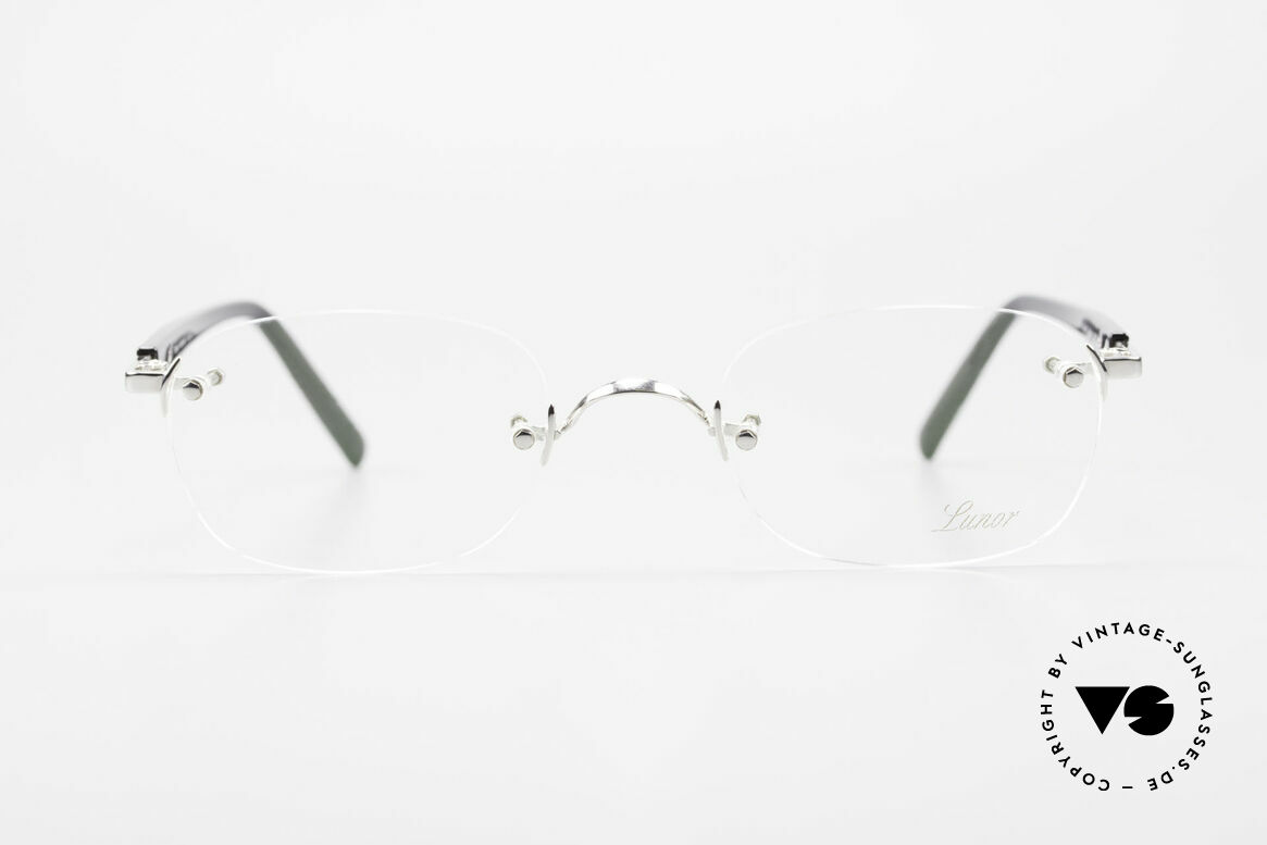 Lunor Classic V Anatomic PP Rimless Frame Platin Plated, without ostentatious logos (but in a timeless elegance), Made for Men