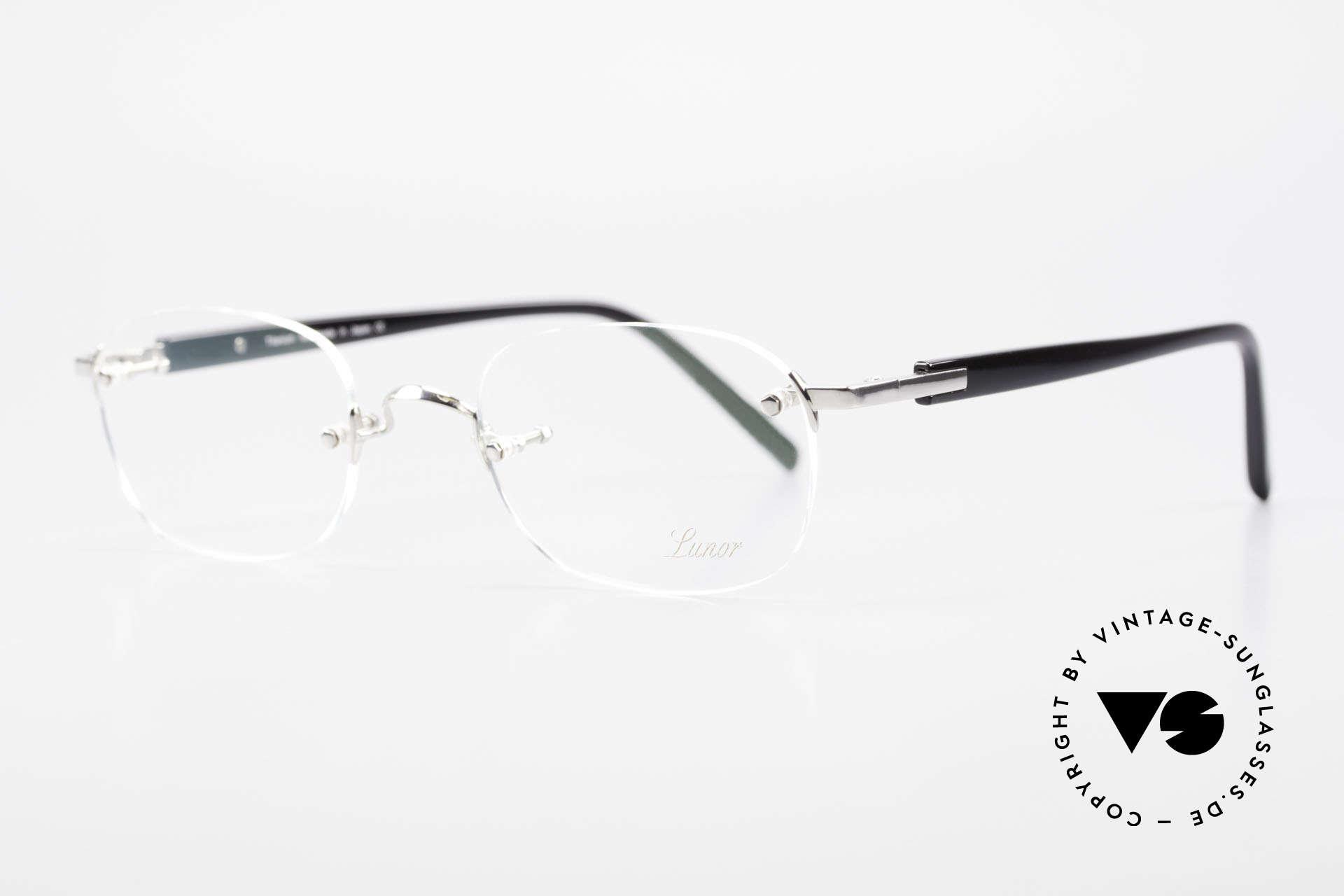 "Lunor Classic V Anatomic PP Rimless Frame Platin Plated, rimless model ""Classic Anatomic"" PLATIN-plated 50x23, Made for Men"